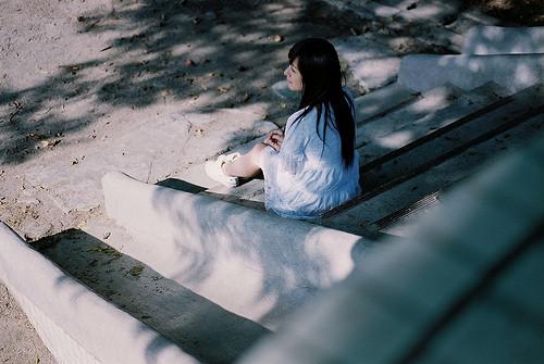 寂静美女唯美意境图片