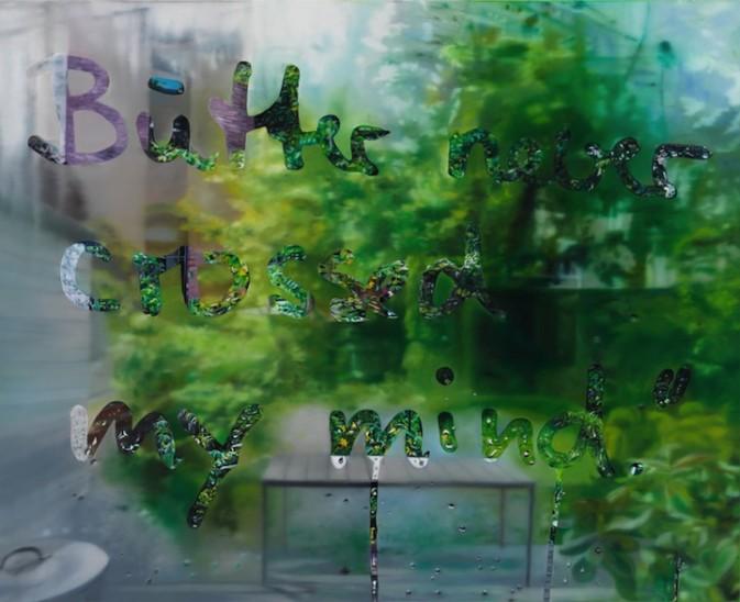 窗里窗外下雨天唯美创意图片