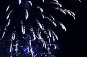 美丽烟花夜景图片