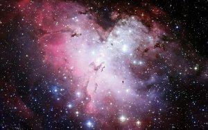 光彩绚丽的璀璨星空唯美意境图片